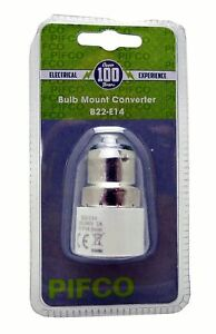 BULB MOUNT CONVERTER E27> E14 AND B22 > E14 Lamp Light Bulb Base Fitting AdapTOR