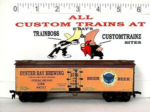 HO CUSTOM LETTERED OYSTER BAY BREWING BEER (LIRR) COLLECTIBLE REEFER LOT E