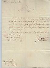 1829 lettera BOLOGNA-LUGO FIRMA AUTOGRAFA CARDINALE ALBANI+t.COMMISS.RENO-f154