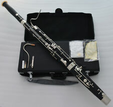 Professional C key Short Hand Bassoon 2 Cupronickel Bocal Leather Case