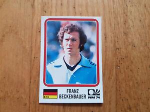 Panini WM 1974 World Cup München 74 sticker Beckenbauer #63 WorldCup Story 1990