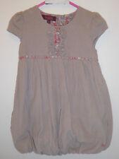 TED BAKER - Beautiful Girls Mocha Corduroy Puffball Dress Outfit 2-3 Years - VGC