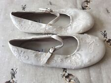 NEXT .. GIRLS  . Cream . Jewel. . Wedding / Party Buckle. . Shoes .. Size 12