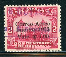 NICARAGUA Used Selections: MAXWELL #A66 1C/2c Carmine Cathedral $$$
