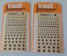 Dos hojas signos transferibles Transit Vintage Similar letraset decadryTransfer