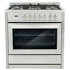 Commercial-Style 36 In. 3.8 Cu. Ft. Single Oven Dual Fuel Range With 8 Function