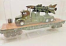 Menards ~ O Gauge Military Flatcar w ARMY truck & Missile *2017* Mth Lionel comp