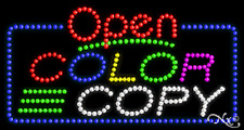 "New ""Open Color Copy"" 32x17 Solid/Animated Led Sign W/Custom Options 25489"