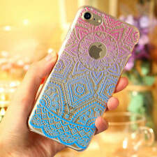 Henna Flower Paisley Tribal Clear Cover Phone Case for iPhone SE 5 6 6S 7 7 Plus