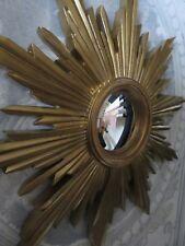 Glace / miroir soleil doré avec oeil de sorcière