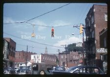 SLIDE - 1959  Canton North Carolina MAIN STREET  Sterling Theater AMOCO GAS