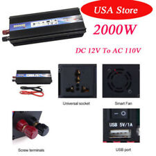 2000W Car Vehicle USB DC 12V to AC 110V Power Inverter Adapter Converter