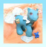 ❤️My Little Pony MLP G1 Vtg Playtime Baby Brother Boy Drummer Blue Drums 1988❤️