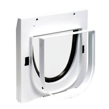 Staywell 919 and Tunnel Extension 4 Way Locking Cat Flap for Walls Doors & Glass Cat Flap 5 Tunnels 96mm