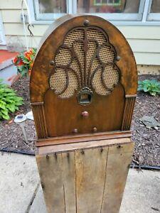 Antique 1930s Philco Cathedral Radio