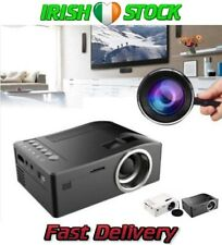 Portable Mini 1080P LED Projector Cinema Theater Laptop TV USB SD AV HDMI Black