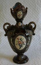 c1895 Gerbing & Stephan 4546 23cm Majolica Vase