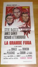 The GREAT ESCAPE (1963) Steve McQueen  Rare Original Locandina Poster