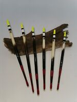 Handmade Porcupine Quill Waggler Floats Vintage Traditional (yellow) Set of 6