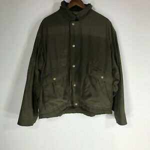 Browning Men's Size Large Dark Green Full Zip Outdoors Hunting Jacket *flaws*