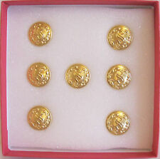 """SET OF 7  PROFESSIONAL REMOVABLE 5/8"""" SANTA'S BUTTON FOR HIS VEST OR SHIRT ! !"""