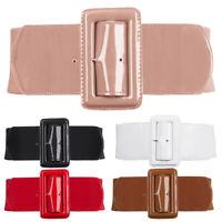 Women Gk Waistband Pu Fashion Leather Buckle Hot Retro Girls Elastic Belt Wide