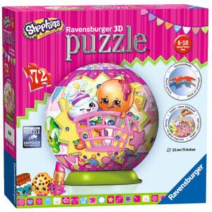 12176 Ravensburger Shopkins 3D Puzzle 72pc [3D JIGSAW ] New in Box!