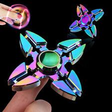 Rainbow Hand Spinner 4 Side Fidget Desk Toy EDC ADHD Stocking Stuffer Kids/Adult
