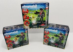 Playmobil Ghostbusters II 2 Spengler 9346 Venkman 9347 Stantz 9348 Lot of 3