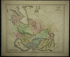 1850 GRANDI COLORATE A MANO ANTICO MAP ~ Persia IRAK ajemi materie grasse KERMAN mekran