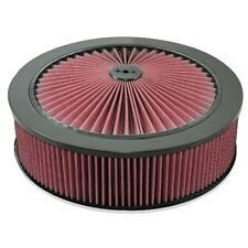 "14"" x 4"" (100mm) Holley Air Filter Hi Flow BLACK suit 5 1/8"" neck 16-215-1BLK"