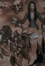 Midnight Shadows Vampire Zombies Alexander Henry Cotton Quilt Fabric 8740B Smoke