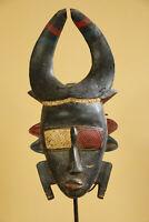 BH9 Senufo Djimini alte Maske Afrika / Masque Senoufo ancien / Old tribal mask