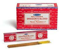 Satya Nag Champa Dragon's Blood Incense Sticks (12 X 15 Gr = 180 Gr) Ships Free