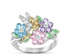 Finger Ring Size7 Lucky Floriated Angel God Bless 18k Yellow/White Gold Filled