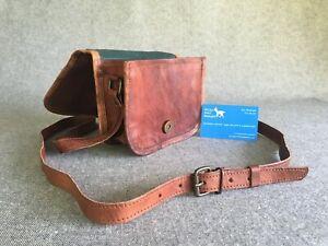 """Leather Shoulder Bag 7"""" wide Flap FXXSR Pocket Handmade Billy Goat Designs Goat"""
