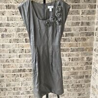 Ann Taylor Loft Woman Sleeveless Career Casual Dress Size 2 Gray D3