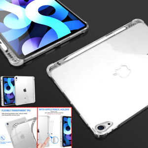 For Apple iPad Air 4th 10.9 2020 Case Clear TPU Shockproof Cover w/Pencil Holder
