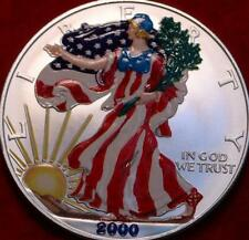 Uncirculated Colorized 2000 American Eagle Silver Dollar