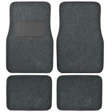 Deluxe 4 Piece High Quality Thick Plush Auto Carpeted Floor Mats - Dark Gray