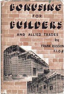 Bonusing for Builders - Frank Russon FIOB - Hardback -1st Edition 1950