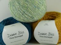 Debbie Bliss Fine Donegal 4ply 100g VARIOUS SHADES 95% wool 5% cashmere