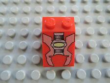 Lego 1 x Schrägstein 3298px6 rot  3x2 bedr. graue Maschine 7314