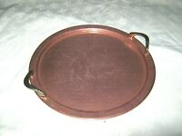 A Large Round Vintage Retro 60's Salmon Pink Anodised Drinks Serving Carry Tray