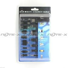 USB MULTI-CHARGE CABLE 15 EMBOUT POUR RECHARGER MP3 MP4 IPOD