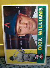 1960 Topps  # 188 DICK WILLIAMS ** READ DESC ** K.C. ATHLETICS ** RB-6146