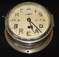 Ship Style Chrome HOVIS BREAD PRIZE CLOCK Advertising Clock BRAVINGTONS LONDON