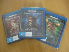 Pirates Of The Caribbean 1, 2, 3(6 Blu Ray) New