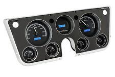 67-72 Chevy Truck C10 Dakota Digital Black Alloy & Blue VHX Analog Gauge Kit