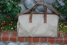 LAGERFELD MEN'S OR WOMEN'S TAN TRAVEL BAG PVC